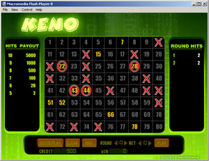 Click to view Keno Online 1.5 screenshot